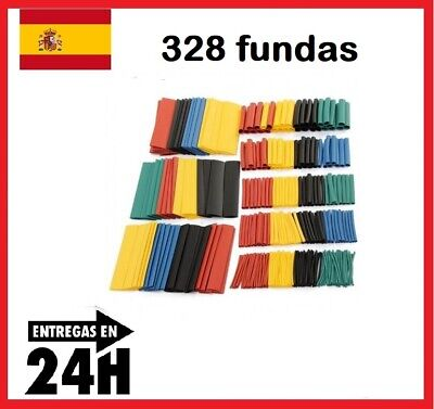 328Pcs Surtido FUNDA TERMORETRACTIL TUBo Colores Aislante para cables 8 medidas