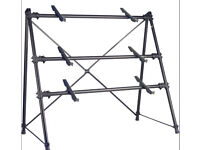 Stagg KXS-C34BK 3-Tier Keyboard Synth Stand A-Frame
