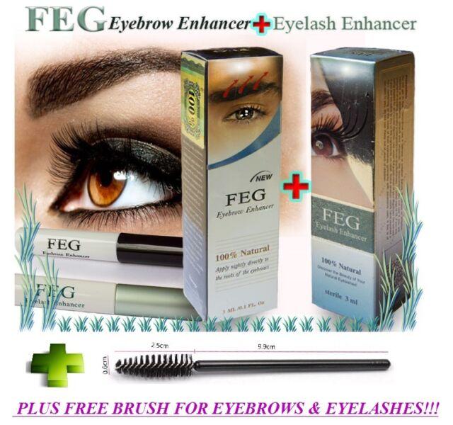 FEG Eyelash & Eyebrow Enhancer, Original Rapid Growth Serum 3ml + FREE BRUSH!!!