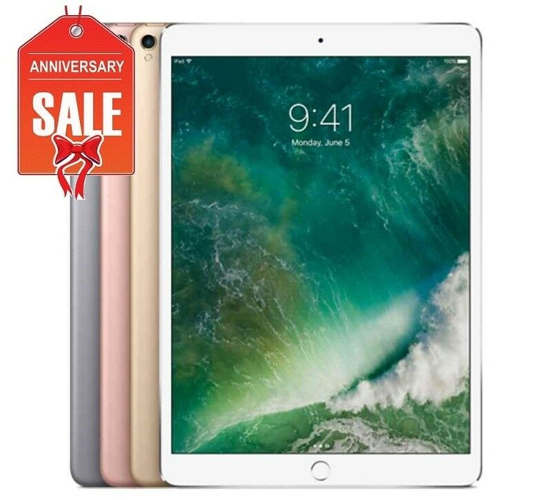 Apple iPad Pro 2nd Gen 64GB, WiFi, Unlocked 10.5in - ROSE GOLD GRAY SILVER (R-D)