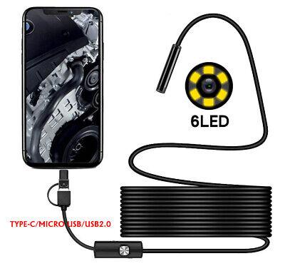 Type-cmicro Usb Endoscope Borescope Waterproof Camera For Mac Android Windows