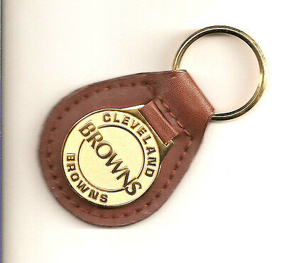 Cleveland Browns Leather Keychain Licensed by NFL Brand New