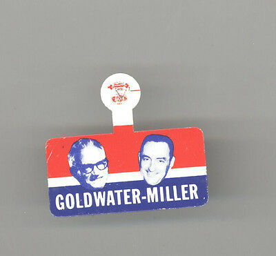 1964 BARRY GOLDWATER Bill Miller REPUBLICAN President TAB Political GOP Arizona