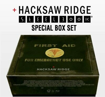 Hacksaw Ridge Blu-ray Steelbook Special Box Book+Photocard+Poster+Military Chain for sale  Shipping to United States