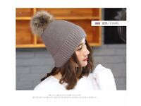 new woman winter hats,high quality,knitted,thick warm,5 color: red, camel, white, pink,black