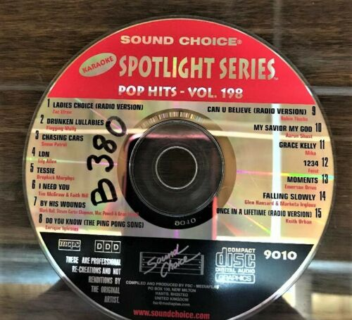 SOUND CHOICE KARAOKE SPOTLIGHT CD+G - 9010  - POP HITS VOL 198 - CDG