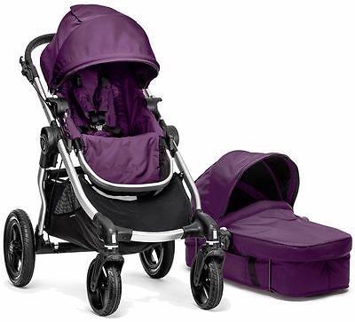 Baby Jogger City Select Stroller Amethyst w Bassinet Pram System Travel NEW 2016