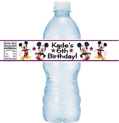 12 Mickey Mouse Clubhouse Birthday Party Baby Shower Water Bottle Sticker Labels](Mickey Mouse Baby Birthday)