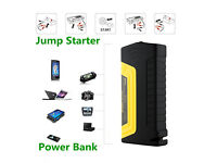 New 68800MAH Car Jump Starter Emergency Charger Booster Power Bank 2 x USB SOS LEDs , Rechargeable