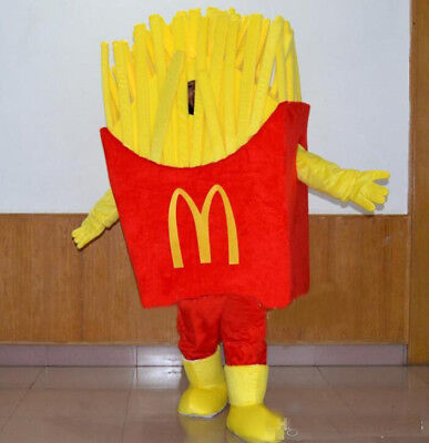 Hot French Fries Bubble Cotton Food Mascot Costumes 100% Real Images For Adults - Food Costumes For Adults