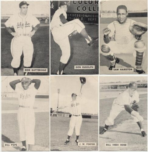 1952 Globe Printing Colorado Sky Sox Near Full Set Of 18 With Original Album
