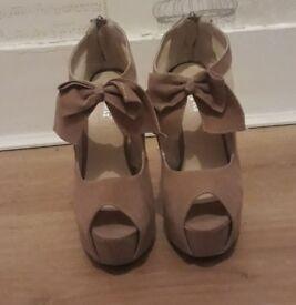 Stunning Beige/Nude Peep Toe Heels