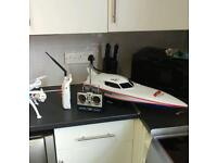 Rc speed boat 2x spare upgraded batterys