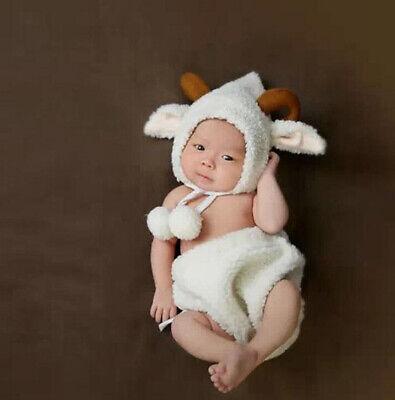 Neugeborene Baby Plüsch Schafe Lamm Kostüm Fotografie Mütze - Plüsch Lamm Kostüme
