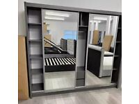 😁MEGA SALE ON BRAND NEW MDF MATERIAL SLIDING MIRROR WARDROBE WITH QUICK DELIVERY😁😁