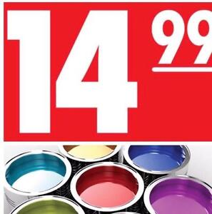 New paint $14.99 gallon All 30 colors!! Gallon of paint for $14.99??  Paint and primer!!