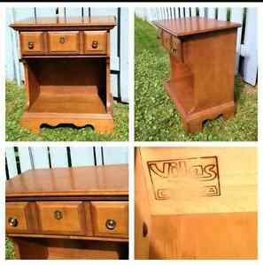 Vilas night stand or side accent table