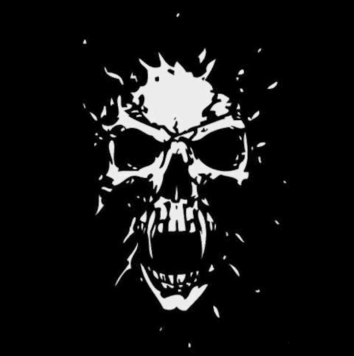 Airbrush Schablone - Stencil 11557 Skull - Totenkopf