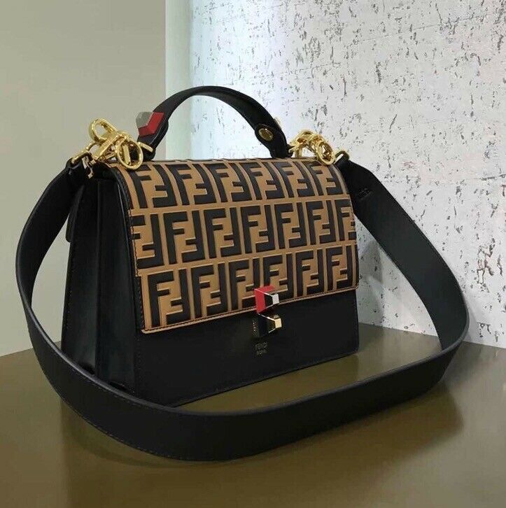 Fendi KAN I Black Leather Bag. Old Trafford ...