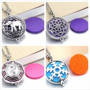 New Silver Colored Diffuser Aromatherapy Necklaces