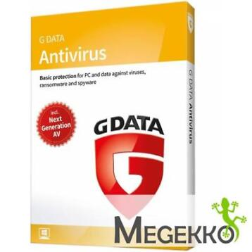 G DATA Antivirus 2018 1gebruiker(s) 1jaar Base license Ned..