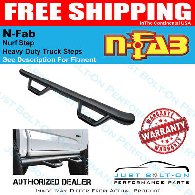 N-Fab Nerf Step 02-08 Ram 1500/2500/3500 Quad Cab 4 Door Gloss Black D0273QC