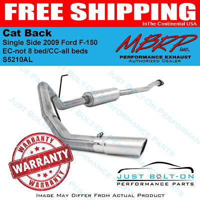 MBRP 2009 Ford F 150 EC not 8 bedCC all beds Cat Back Single Side S5210AL