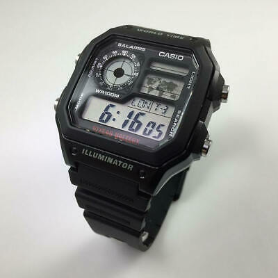 Men's Casio World Time Digital Watch AE1200WH-1A