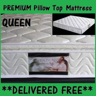DELIVERED FREE!! PREMIUM Pillow Top Mattress. QUEEN SIZE **NEW** New Farm Brisbane North East Preview