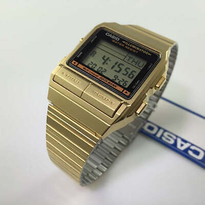 Men's Gold-Tone Casio Data Bank Digital Dial Watch DB380G-1 DB380G-1D