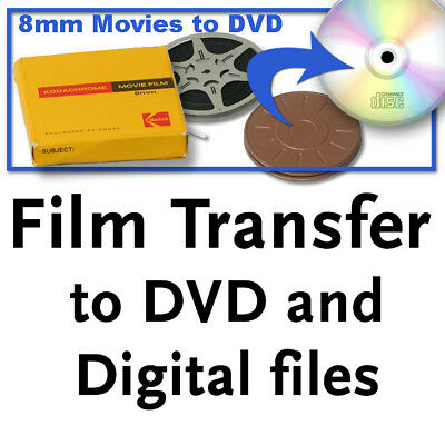 Regular 8mm, Super 8, 16mm film PREMIUM TRANSFER to DVD and digital files
