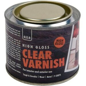 180ml High Gloss Clear Varnish Interior Exterior Wood Floor Furniture Door Stain