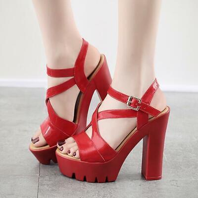 Neu Damen High Heel Sexy Platform T-Strap Sandalen Party Schuhe Gr.32-43 Strap Platform Schuhe