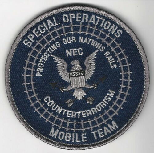 NE Corridor Railroad Railway Police State PA DC CT NJ  Mobile Team SWAT SRT