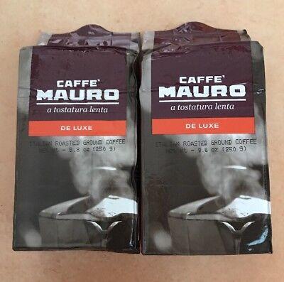 Caffe Mauro Classico Italian Roasted Brick Ground Coffee 8.8oz Each 2 Packs (Coffee 2 Oz Brick)