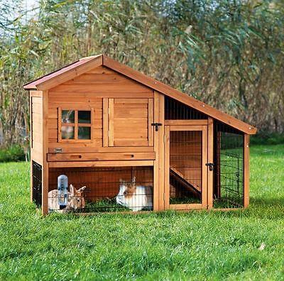 Trixie 62335 Natura Cobertizo para Animales Pequeños Con Corral, 151×107 ×