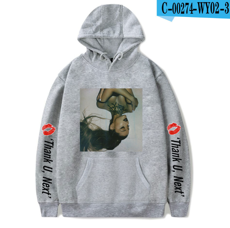 Ariana Grande Damen Kapuzenpullover Hoodie Print Printed Sweatshirt Cartoon Coat