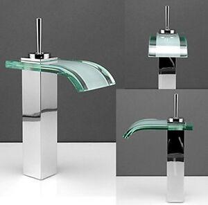 Rubinetto miscelatore lavabo bagno cascata vetro jn8218 ebay - Rubinetto bagno cascata ...