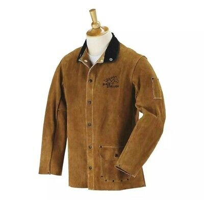 Black Stallion 30wc 30 Quality Side Split Cowhide Welding Jacket Medium