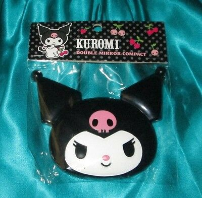 KUROMI (My Melody) Sanrio Kawaii Cute Double Mirror Compact NEW 2008