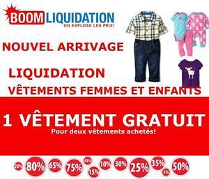 1 VÊTEMENT GRATUIT POUR 2 Achetés!! CENTRE DE LIQUIDATION NOUVEL ARRIVAGE!