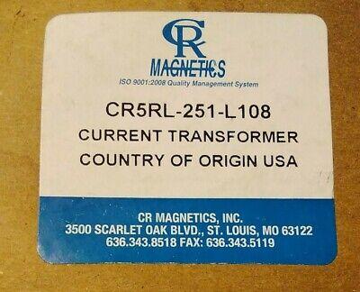 1 Qty New Cr Magnetics Cr5rl-251-l108 Current Transformer