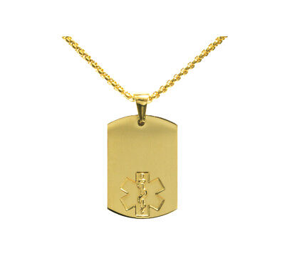 Bright Gold Plated Dog Tag Blank