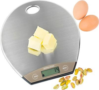 Andrew James 5KG Digital Kitchen Scales Electronic LCD Cooking Postal Weighing