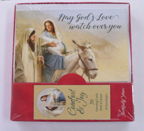 Box of 20 Christmas Greeting Cards with Scripture