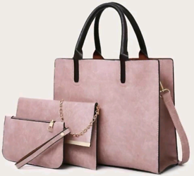 3 piece Handbag Set Available in Pink or Black £32 + postage