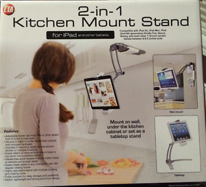 Kitchen 2-in-1 tablet mount stand