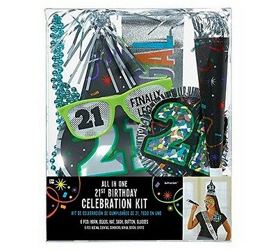 All In One 21st Birthday Party Kit (6 Piece) - 921566