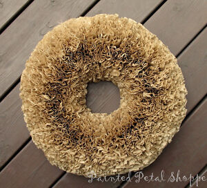 Natural Coffee Filter Wreath/Rustic Decor/Wedding Wreath Belleville Belleville Area image 2