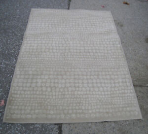 Used Small beige 4' X 5' Area Rug in good clean condition